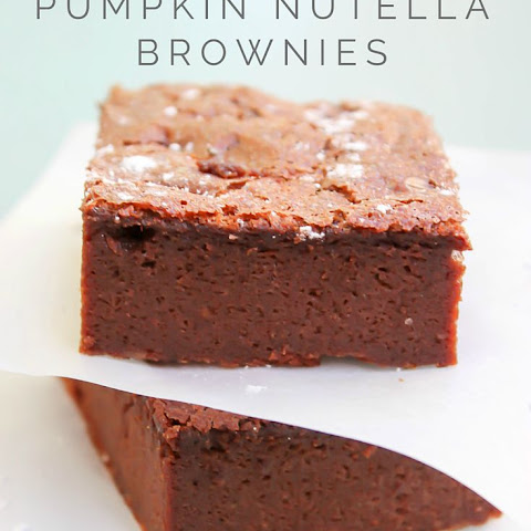 4-Ingredient Pumpkin Nutella Brownies
