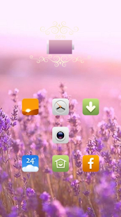 Beautiful pink flowers theme - screenshot