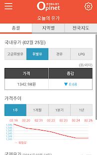 오피넷(OPINET)-싼 주유소 찾기 for Lollipop - Android 5.0