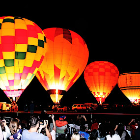 Night glow by Debra Lynde - News & Events Entertainment ( hot air balloon, balloon )