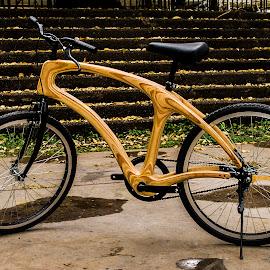 Wooden Bike by Gato Perro Tronchatoro Krois - Transportation Bicycles ( bike, madera, wood, autumn, fall )