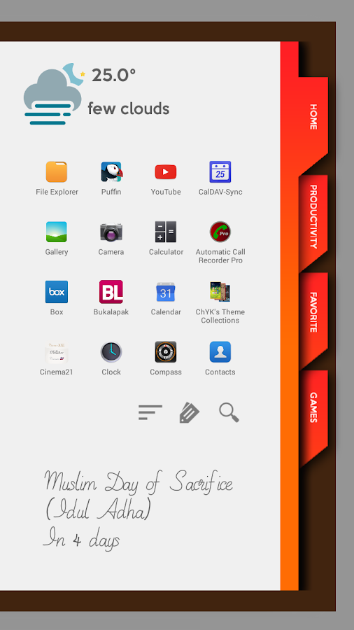 Agenda2 for Total Launcher Screenshot 1