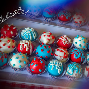 Celebrate by Debbie Jones - Typography Quotes & Sentences ( cake, fourth of july, celebration, celebrate,  )