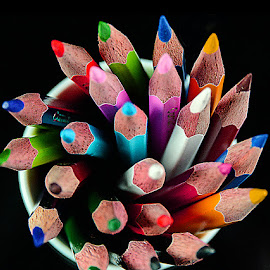 Pencils in cup of cake by Rakesh Syal - Artistic Objects Education Objects (  )
