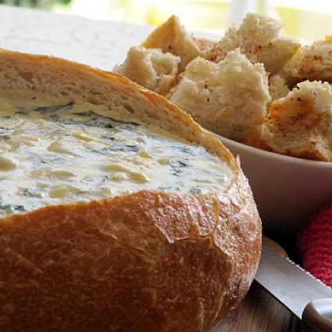 Creamy Spinach Artichoke Dip with Seasoned Dippers