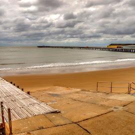 Walton Pier by Carl Surry - Landscapes Beaches ( sand, essex, naze, pier, walton, seaside, beach, coast )