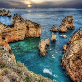 Lagos, Portugal by Khaled Ibrahim - Landscapes Caves & Formations (  )