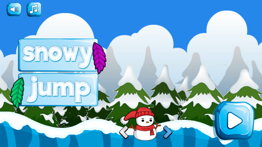 android Snowy Jump Screenshot 0