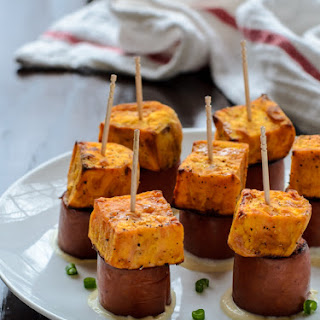 Sweet Potato Sausage Skewers