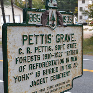 Pettis' Grave C.R.Pettis, Supt. State Forests 1910-1927