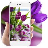 Download HD Purple Tulip Wallpaper APK on PC