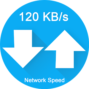 Network Speed Meter displays your internet speed in status bar. APK Icon