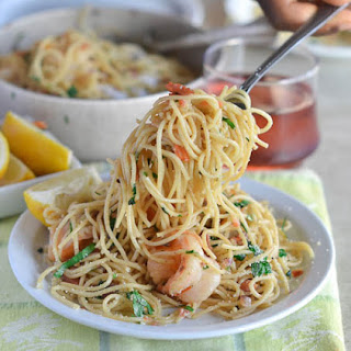 Bacon Shrimp Fettucine Scampi