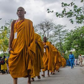 Buddham saranam gacchami by Mihir Mondal - People Street & Candids ( buddham saranam gacchami, monks, budhists )