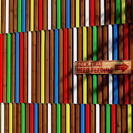 Folk that need feeding by John Harbach - Abstract Patterns ( abstract, leeds, pattern, stripes, colours,  )