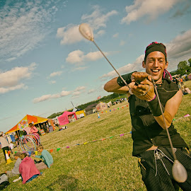 Festival spinning by Alex Graeme - People Musicians & Entertainers