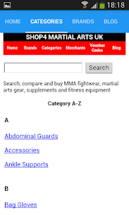 Shop4 Martial Arts UK - screenshot
