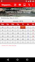 Screenshot of Singapore Calendar