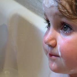 Bathtime by Vicki Clemerson - Babies & Children Children Candids ( bathtime, face, eyelashes, girl, soap, child,  )