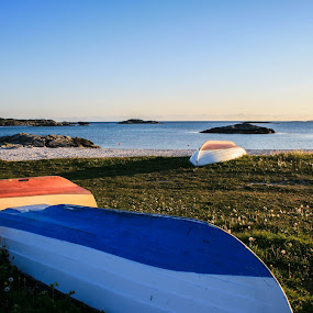 Boats at the Beach by Thomas Sjøen - Landscapes Beaches ( collors, boats, aakrehamn, beach, norway )
