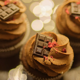 Chocolate cupcakes by Michaela Firešová - Food & Drink Candy & Dessert ( chocolate, cupcakes, brown )