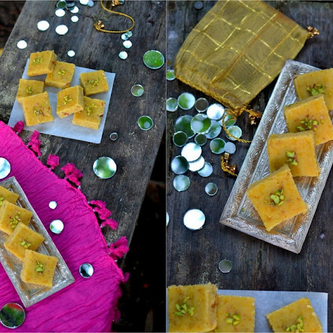 Chana Dal Burfi (Split Chickpeas Fudge)