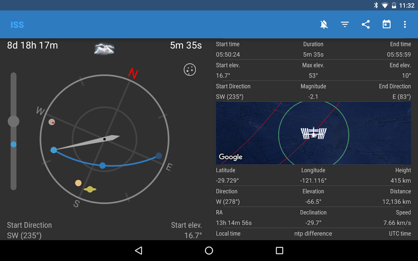 ISS Detector Satellite Tracker Screenshot 11