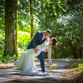 by Adrian O'Neill - Wedding Bride & Groom