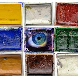 An eye for colour by Brad Cheek - Digital Art Things ( colour, palletts, blue, palette, eye )