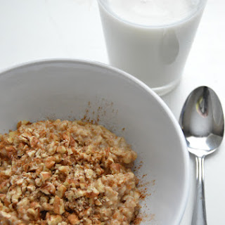 Skinny Banana Nut Bread Oatmeal