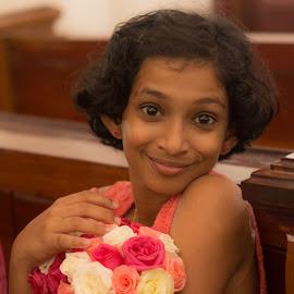 Flower Girl by Vijay Kumar S - Babies & Children Children Candids ( girl, wedding, flower girl, flower )