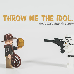 Idol by Jonathan Stolarski - Typography Captioned Photos ( harrison ford, toywar, action figure, star wars, jstolarski, indiana jones )