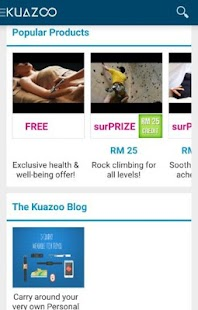 Kuazoo - Healthy Offers - screenshot