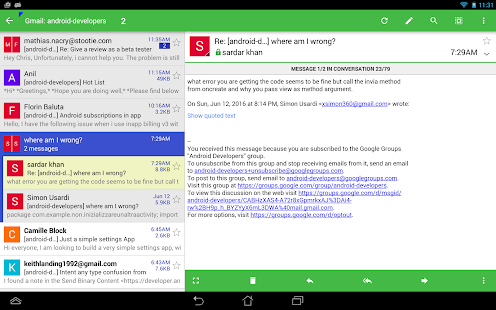 Aqua Mail - email app- screenshot thumbnail