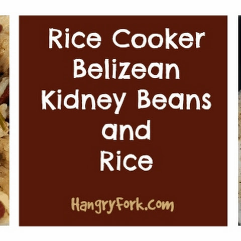 Belizean Kidney Beans and Rice - Vegetarian Rice Cooker