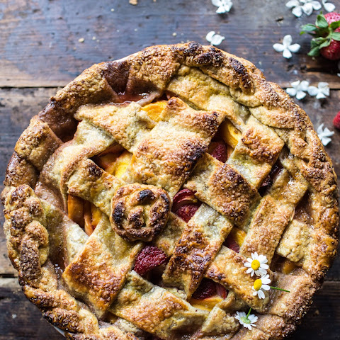 Honey Strawberry Peach Pie.