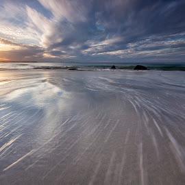Motion by Steve Badger - Landscapes Beaches ( queensland, sunset, snapper rocks, australia, seascape )