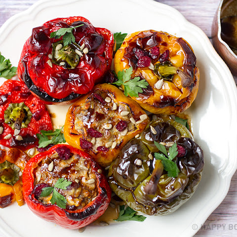 Pork & Cranberry Stuffed Peppers