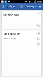 Georgian Russian Translator - screenshot
