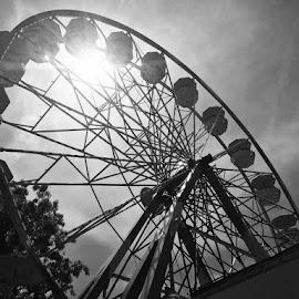 Childhood  by Elizabeth Staples - Novices Only Street & Candid ( cityscapes, amusement park, black and white, landscape )