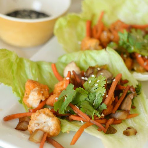 Semi-Homemade Buffalo Chicken Lettuce Wraps