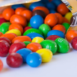 My Favorite Snack by Eva Ryan - Food & Drink Candy & Dessert ( m&m's, color, candy, bright, peanut )