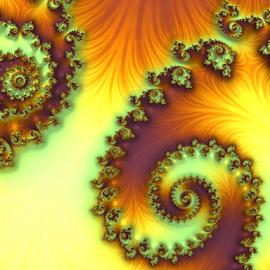 Spiral by Cassy 67 - Illustration Abstract & Patterns ( orange, purple, swirl, wallpaper, digital art, fractal art, yellow, spiral, fractal, fractals, digital )