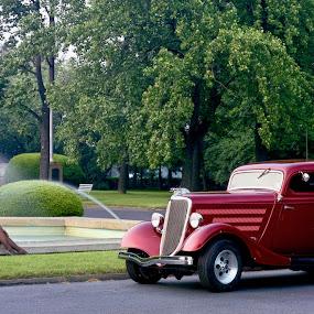 34 Ford by Joe Fazio - Transportation Automobiles ( beautiful, woman, 34 ford, model, transportation )