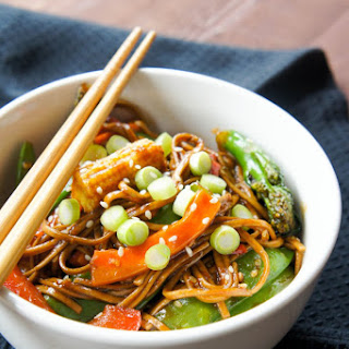 Soba Noodles with Stir-Fried Vegetables