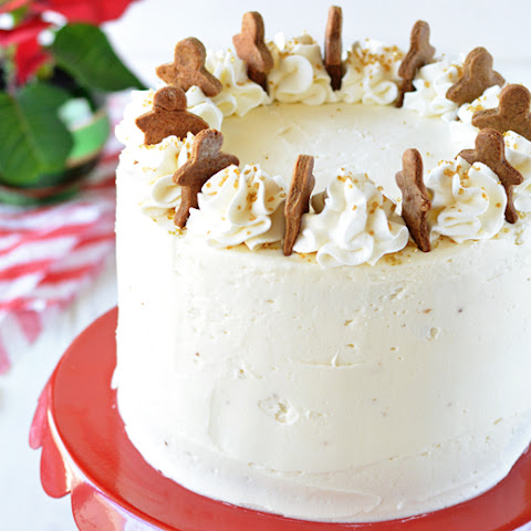 Gingerbread Cake with Maple Bourbon Frosting