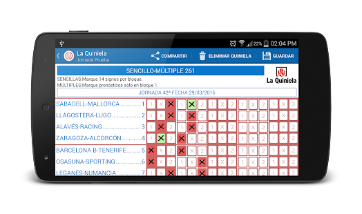 La Quiniela - screenshot