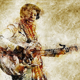 Sing Me a Song Guitar Man by Louis Pretorius - Digital Art People