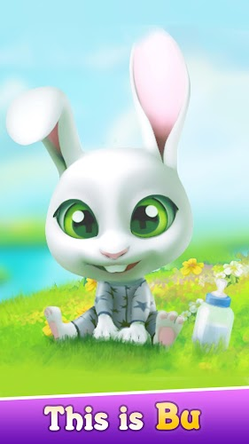 Bu the Baby Bunny - Cute pet care game Android App Screenshot