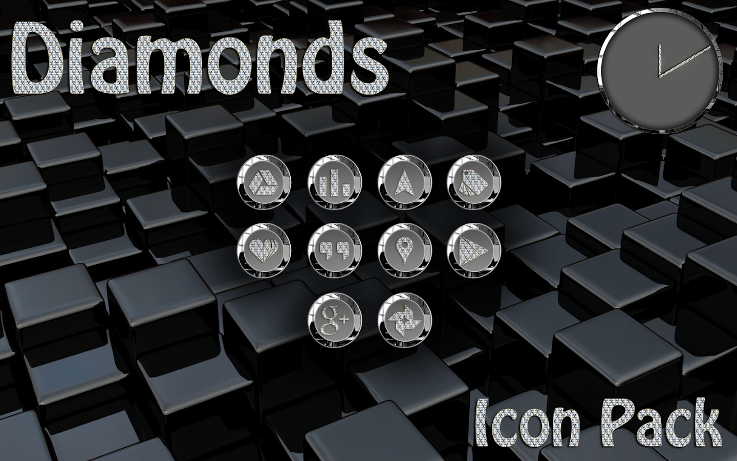 Diamonds Round Icon Pack Screenshot 5